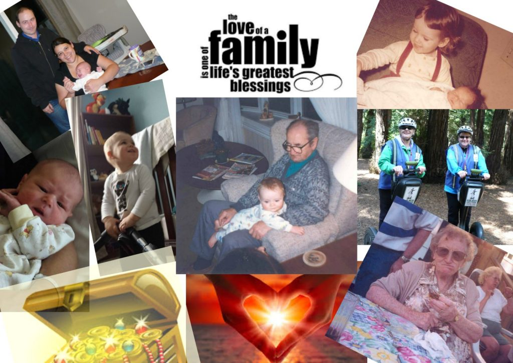 collage of family photos made by Susan Millard