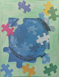 collage for self-care - put together a jigsaw puzzle