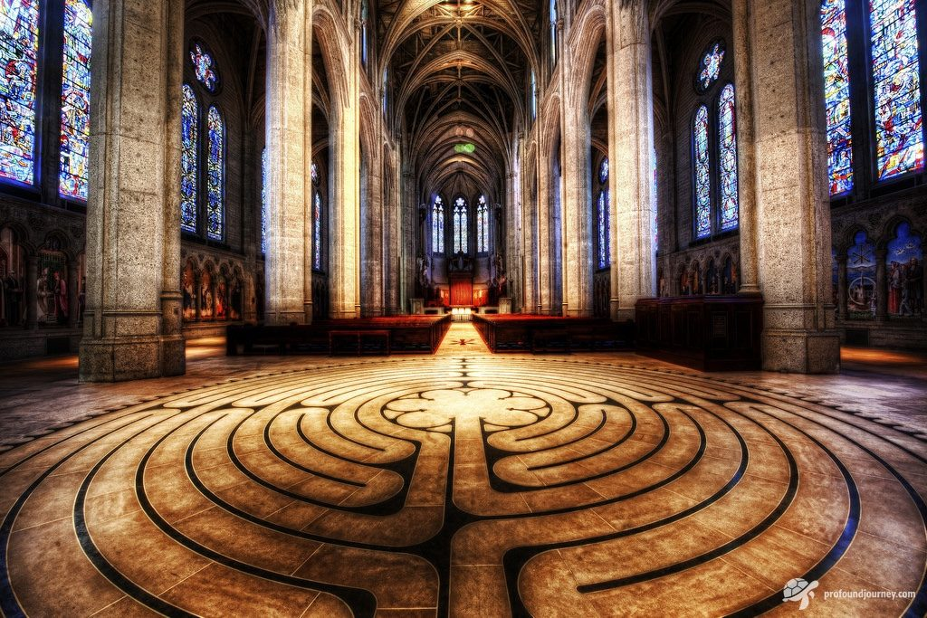 labyrinth in church
