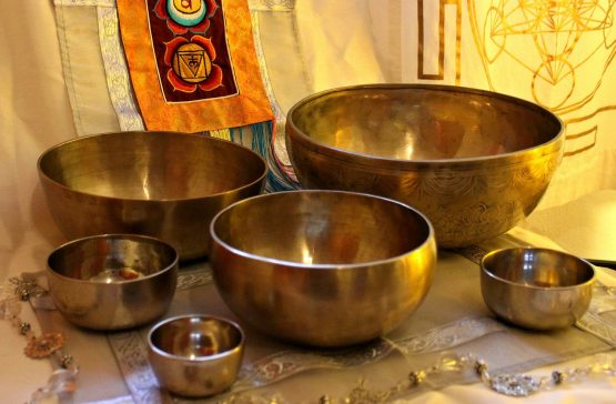 collection of singing bowls Longplayer