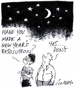 cartoon have you made a new year resolution yes don't