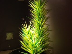 Dale Chihuly green glass tree