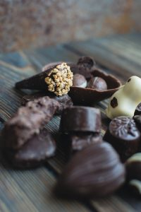 variety of dark chocolate