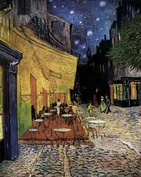 Van Gogh painting cafe terrace