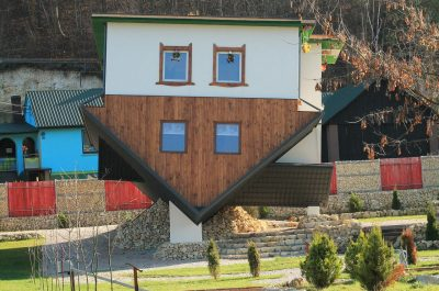 example of upside down houses