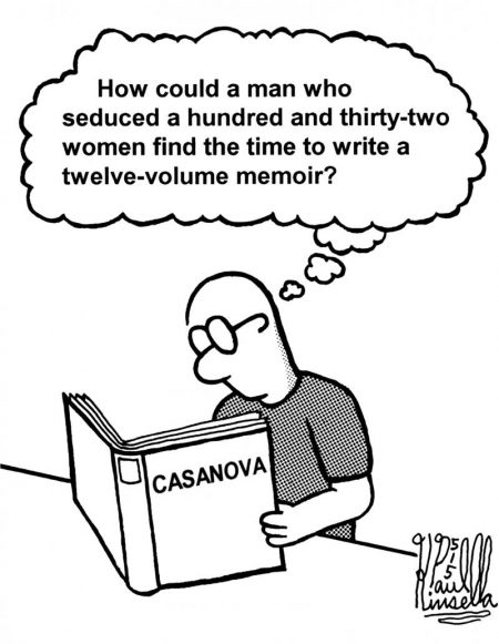 cartoon - Casanova memoir