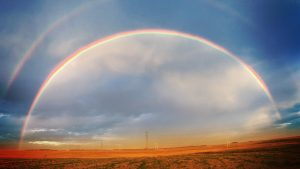 arc of a rainbow