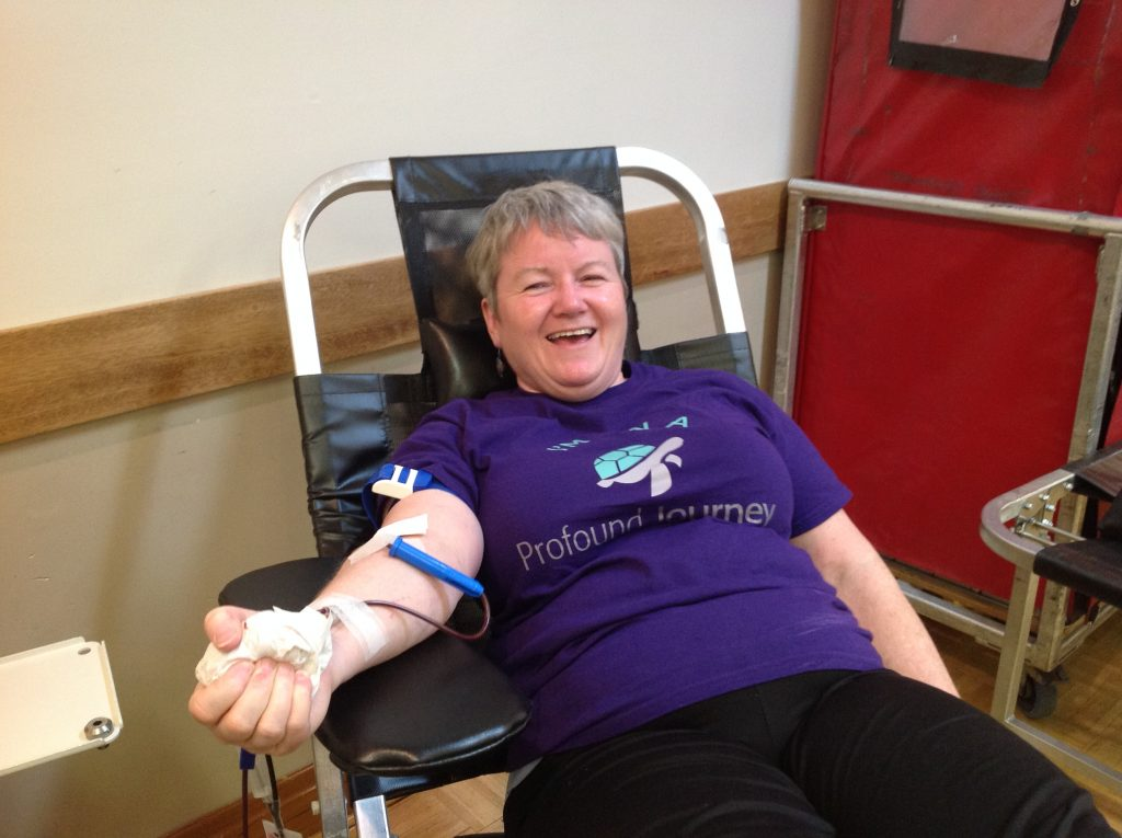 Blood donor Karen Hume