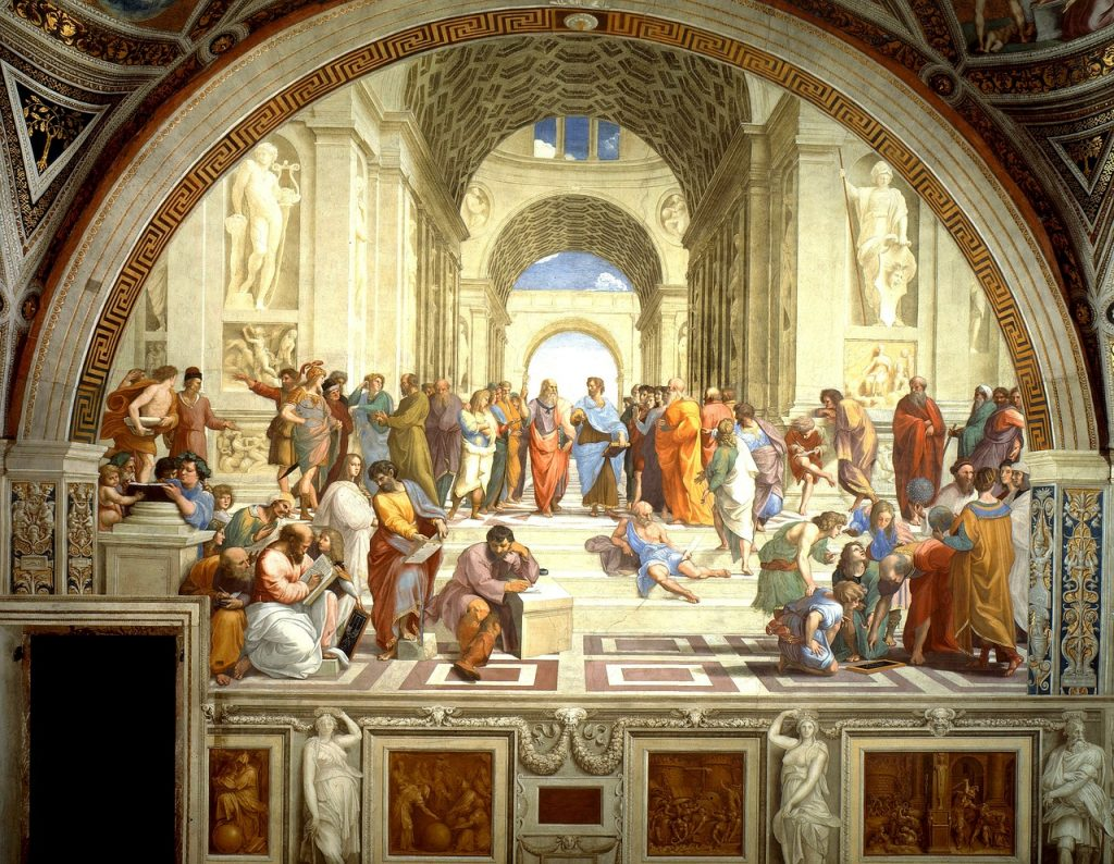 Fresco mural School of Athens