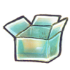 hand drawn icon of open box
