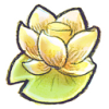hand drawn icon of lotus flower