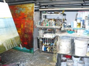 Art studio of painter Steven Gillberry