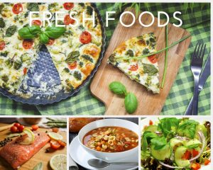 hygge photo collage of fresh foods