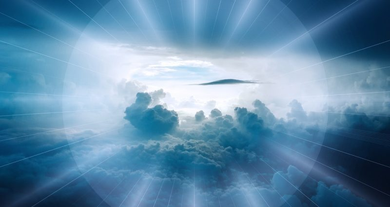 clouds surrounded by light