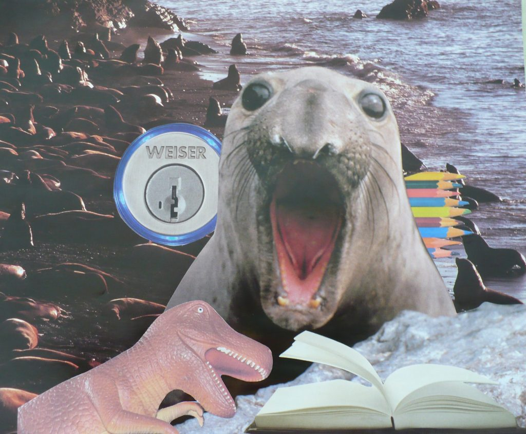 overcome resistance collage with roaring sea lion