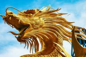 gold dragon to represent resistance