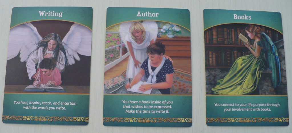 writing, author and book cards from Life Purpose oracle deck