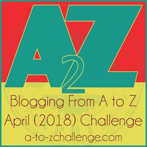 A to Z Blogging Challenge logo 2018