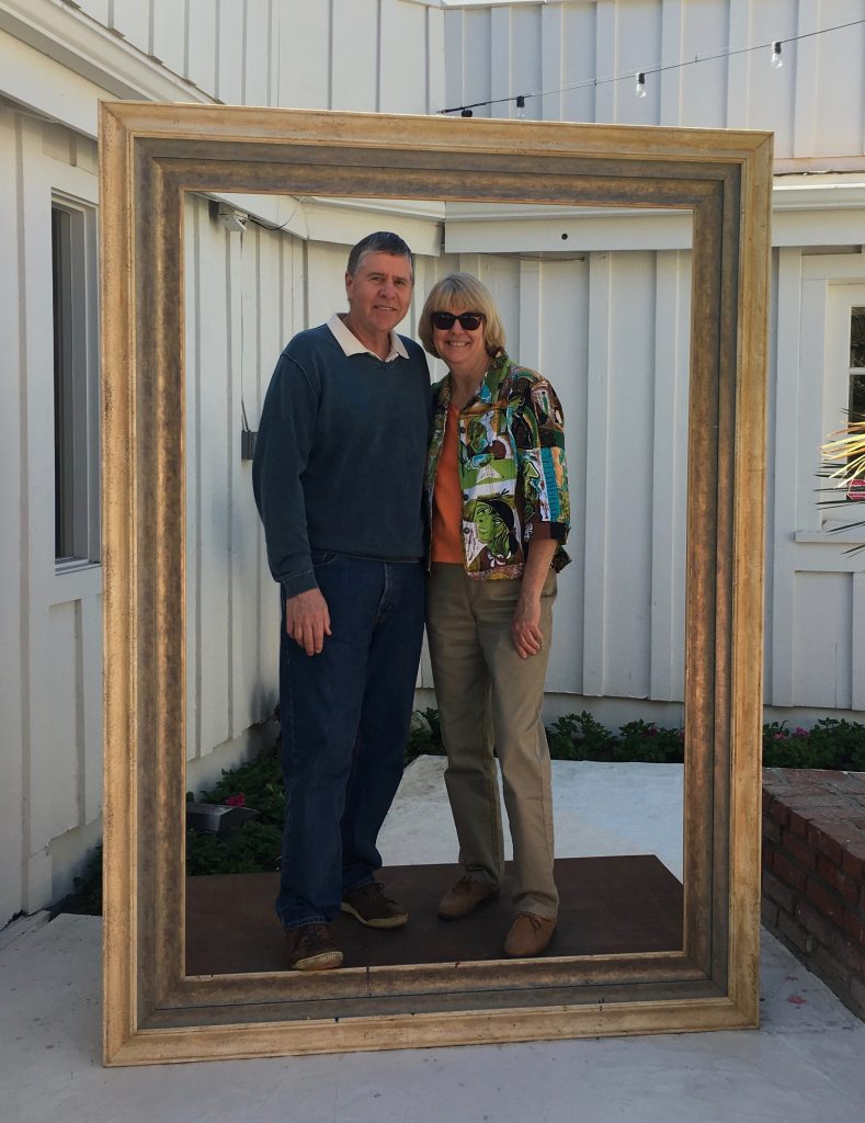 SMART Living blogger Kathy Gottberg and husband inside picture frame