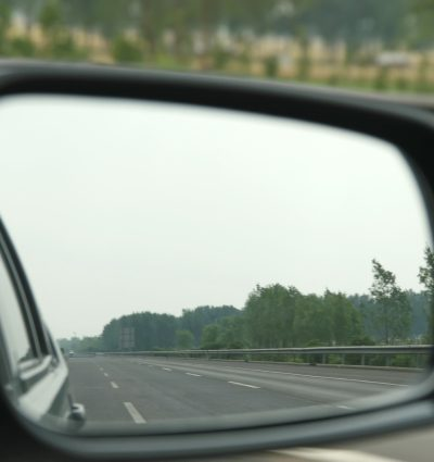 side mirror on car