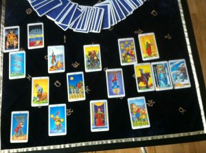 my first tarot reading card spread